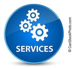 Services (gears icon) elegant blue round button