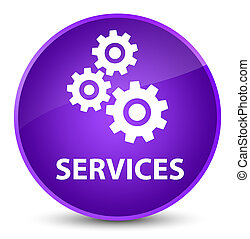 Services (gears icon) elegant purple round button