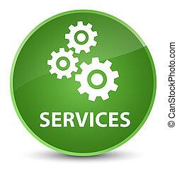 Services (gears icon) elegant soft green round button