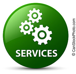 Services (gears icon) green round button