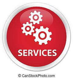 Services (gears icon) premium red round button