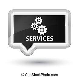 Services (gears icon) prime black banner button