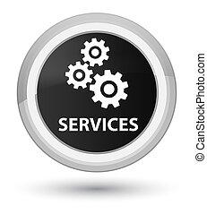 Services (gears icon) prime black round button