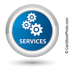 Services (gears icon) prime blue round button