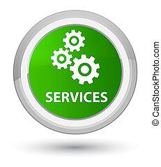 Services (gears icon) prime green round button