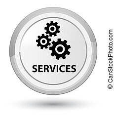 Services (gears icon) prime white round button
