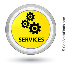 Services (gears icon) prime yellow round button