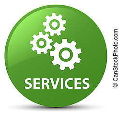 Services (gears icon) soft green round button