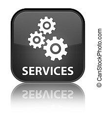 Services (gears icon) special black square button