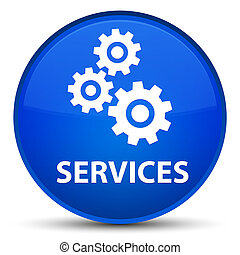 Services (gears icon) special blue round button