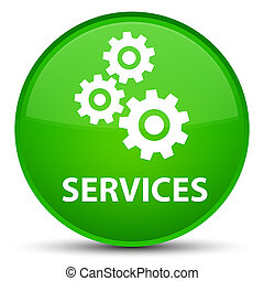 Services (gears icon) special green round button