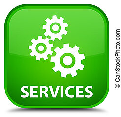 Services (gears icon) special green square button