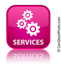 Services (gears icon) special pink square button