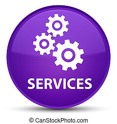 Services (gears icon) special purple round button