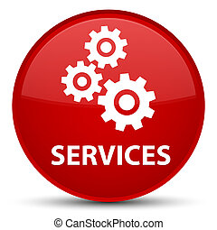 Services (gears icon) special red round button