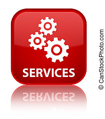 Services (gears icon) special red square button