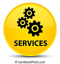 Services (gears icon) special yellow round button