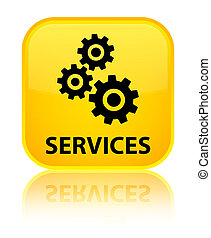 Services (gears icon) special yellow square button