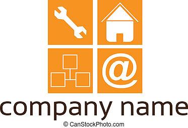 services, logo, -