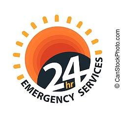 services, logo, 24hr, urgence