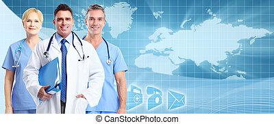 services médicaux, arrière-plan.
