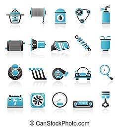 services, partie voiture, 2, icônes