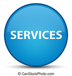 Services special cyan blue round button