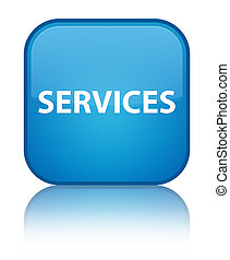 Services special cyan blue square button