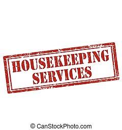 services-stamp, ménage