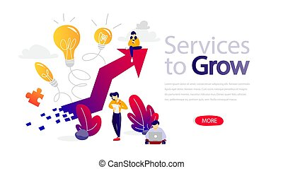 Services to grow horizontal banner for website.