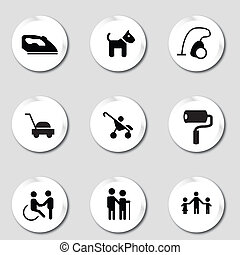 Services to individual - Set of icons about services to...