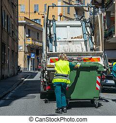 services, urbain, recyclage, gaspillage, déchets