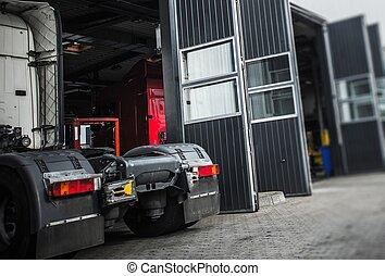 Servicing Semi Truck
