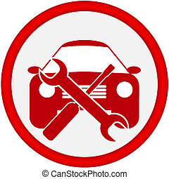 servicio coche, icono