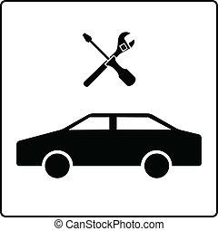 servicio coche, señal