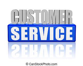 servicio de cliente, -, cartas, y, bloque
