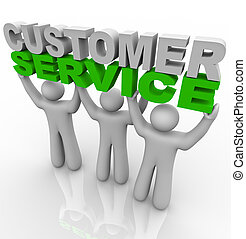 servicio de cliente, -, elevación, el, palabras