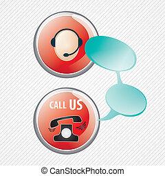 servicio de cliente, iconos