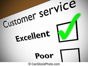 servicio de cliente, reacción