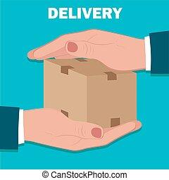 servicio de entrega, plano, diseño, vect