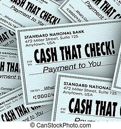 servicio, dinero, efectivo, rápido, cheque, pila, conveniente, pago