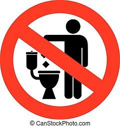 servicio, no, tirar basura, señal
