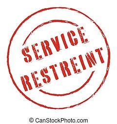 servicio, restringido, estampilla, francés