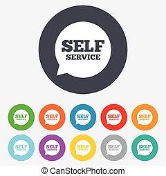 servicio, sí mismo, símbolo., señal, mantenimiento, icon.