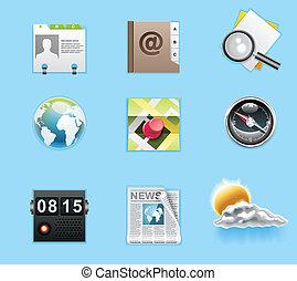 servicios, aplicaciones, iconos