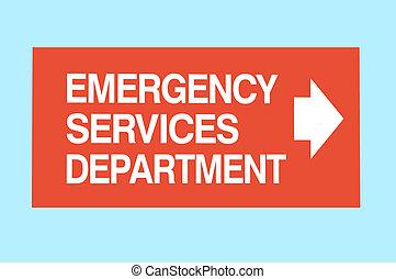servicios de emergencia, señal