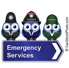 servicios, emergencia, señal