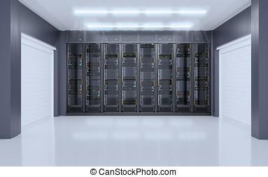 servidor habitación, interior