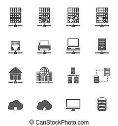servidor, hosting, ícones