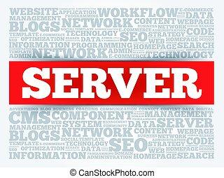 servidor, palabra, nube